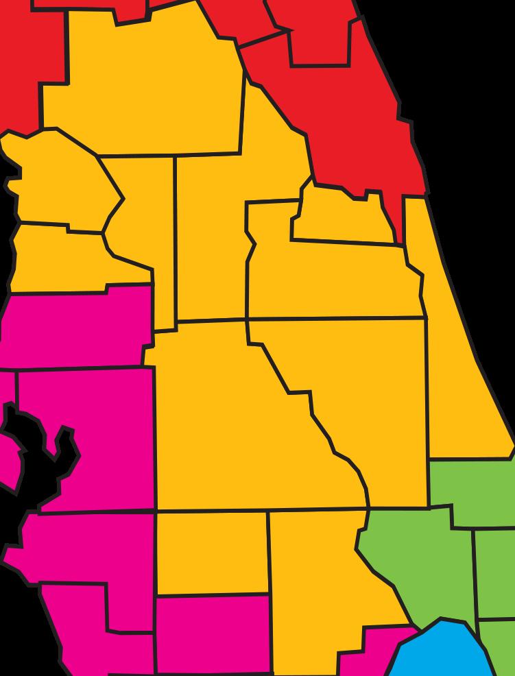 Central region for Icf florida